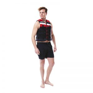 4 BUCKLE VEST Red